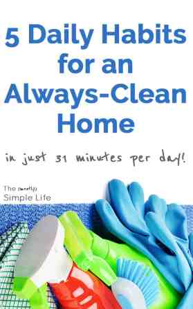 Daily habits for a clean home | Doing these 5 chores each day keeps my house clean and orderly - love it!!!