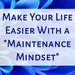 """Make Your Life Easier With a """"Maintenance Mindset"""""""