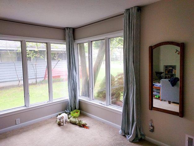 DIY curtains that saved us money!
