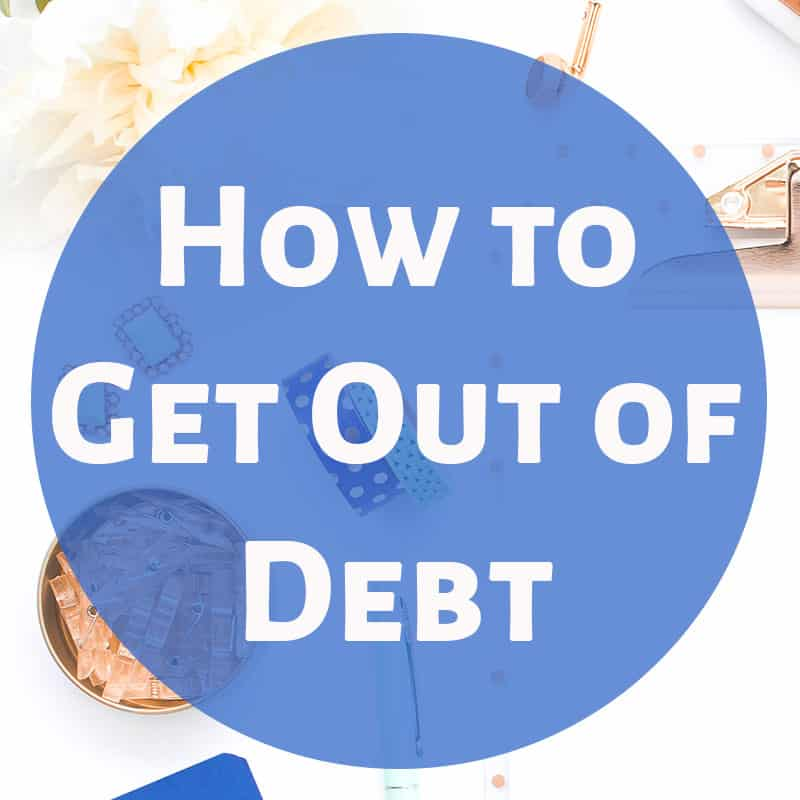 Steps for how to get out of debt. I would love to pay off debt on a small income. I'm so glad this has a free printable to help me track my debt payoff!