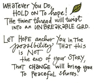 whatever you do, hold on to hope! vbac vba2c