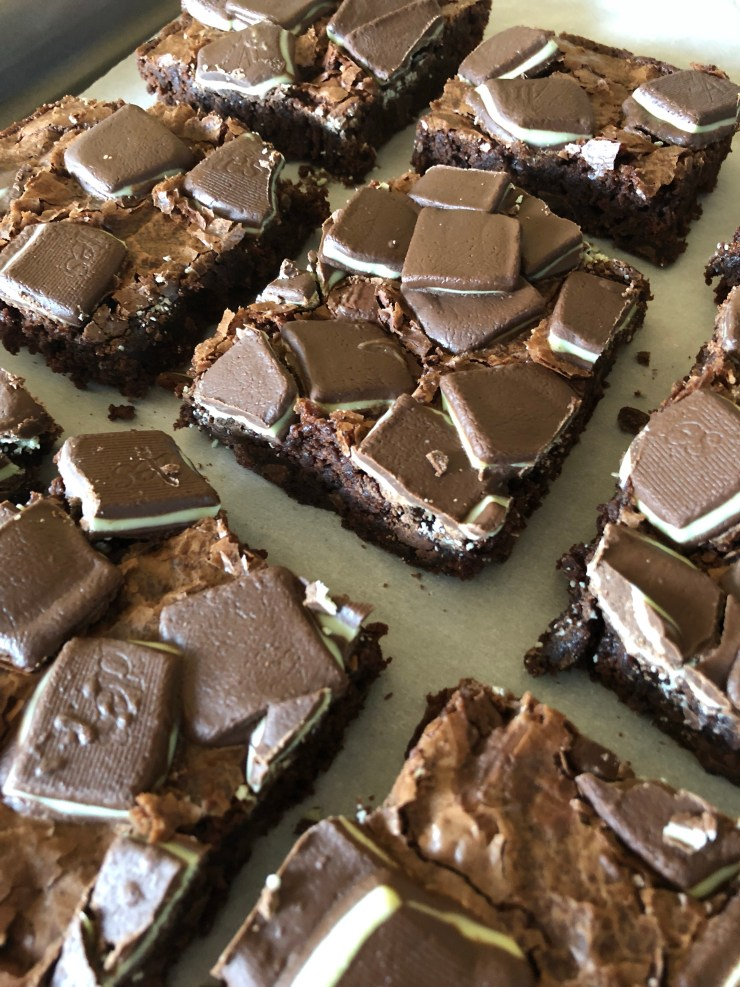 The Motherly Escape Ghirardelli Andes Mint Brownies Best Easiest Quick Dessert Brownies