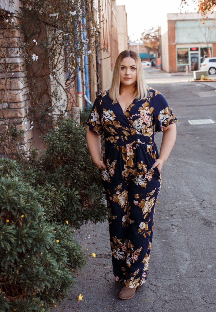 The Motherly Escape Flower Power Jumpsuit Target Style Affordable Fashion Curvy