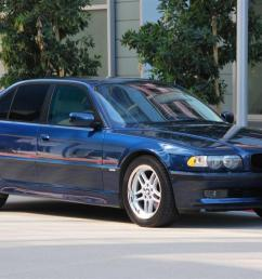 e38 2001 740i sport biarritz blue with oyster interior blue dash and carpets 92 5k mi [ 1147 x 768 Pixel ]
