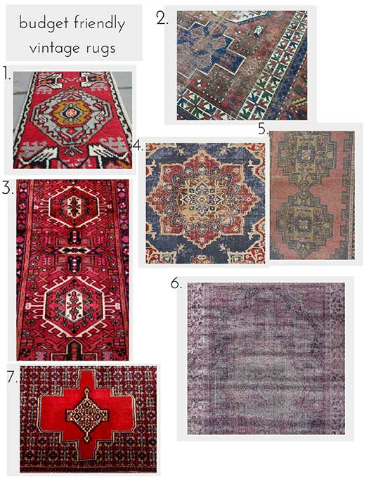 Budget Friendly vintage rug roundup
