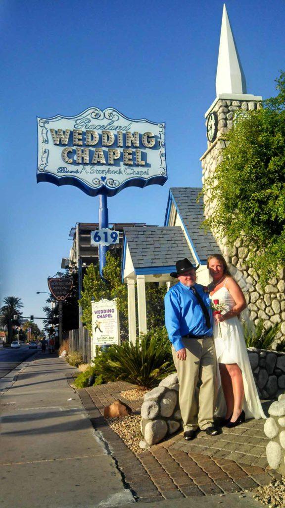 David and Debbie wed at Graceland Wedding Chapel, in Las Vegas, Nevada