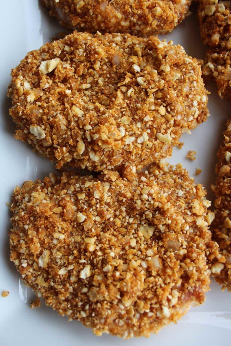 cracker crumb coated pork chops
