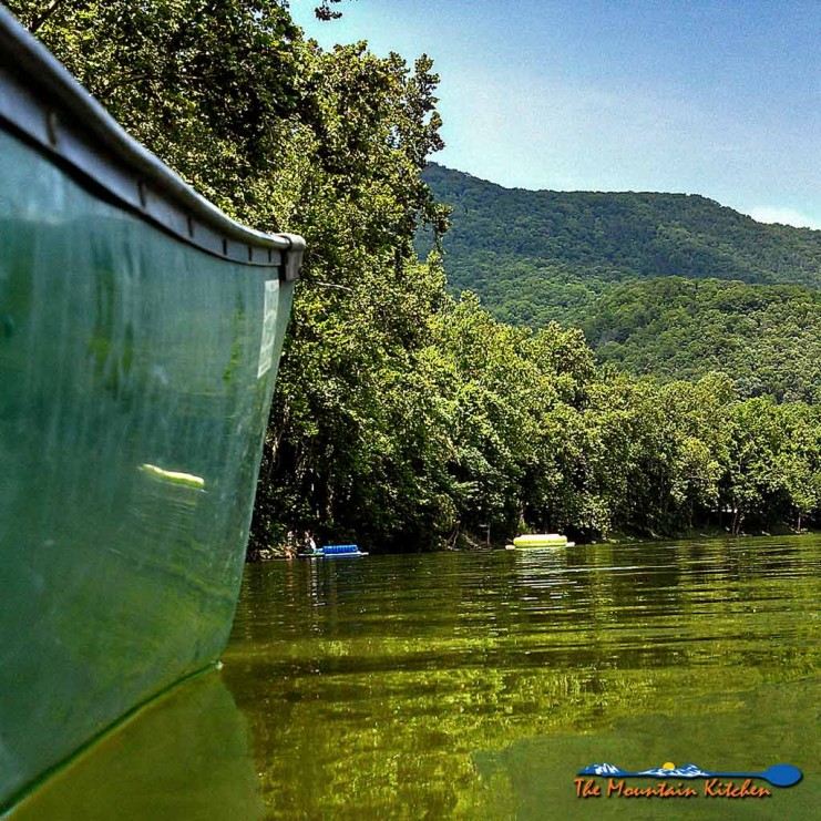 David and I spent a good portion of this past Saturday on a canoe in the Shenandoah River. It is our favorite place to be when it is hot outside! | TheMountainKitchen.com
