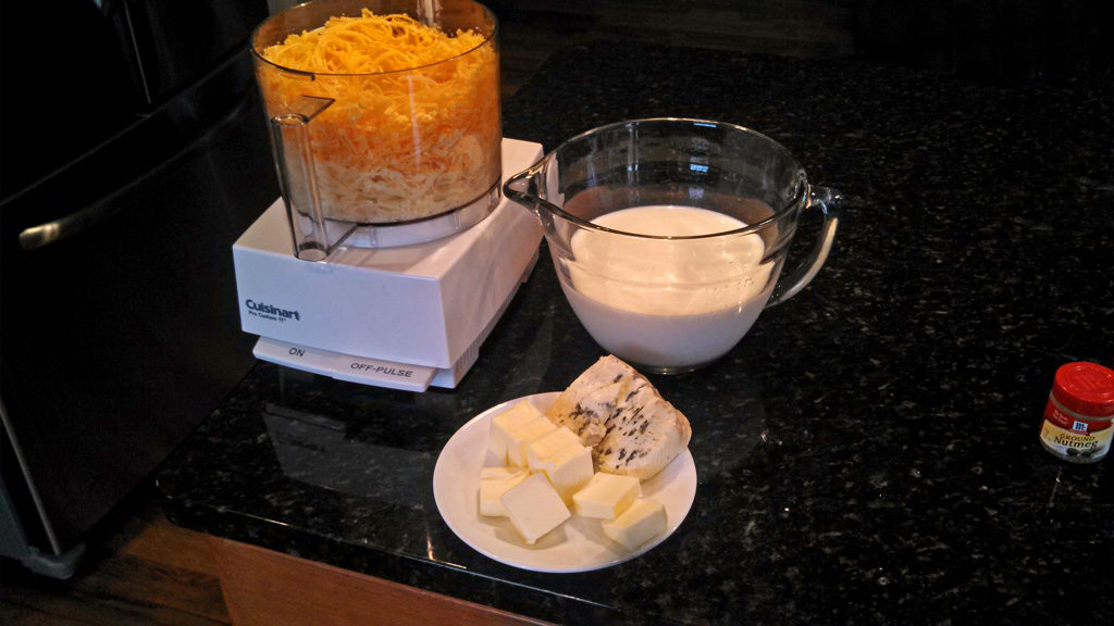 ingredients to make adult mac and cheese