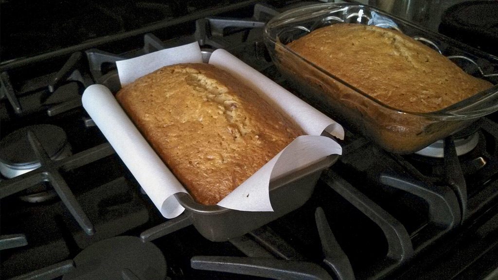 This homemade zucchini bread is moist and nutty with hints of cinnamon and chopped pecans. Perfect for a snack or even as breakfast. Yummy!   TheMountainKitchen.com