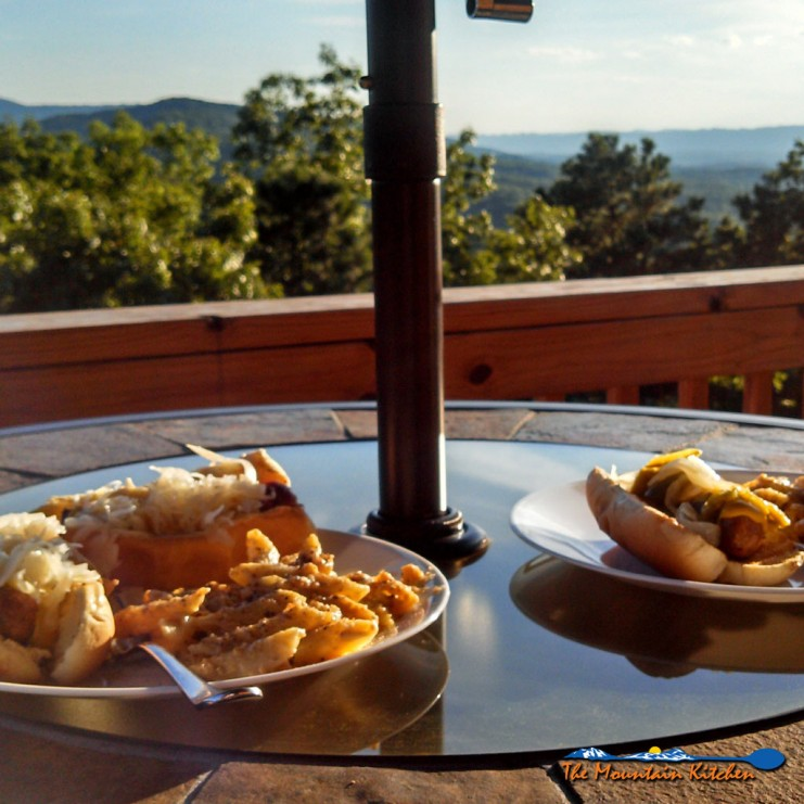 This week the temperatures have been unusually cool for the month of August, in Virginia. It made for ideal deck sitting weather!   TheMountainKitchen.com