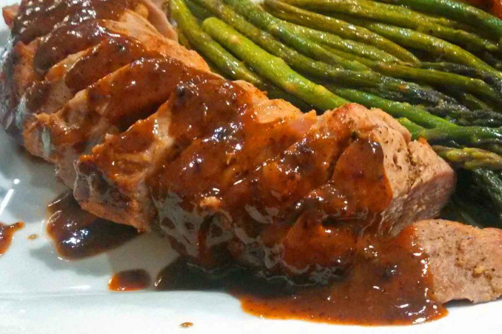 Mustard-Maple Pork Tenderloin ready to eat