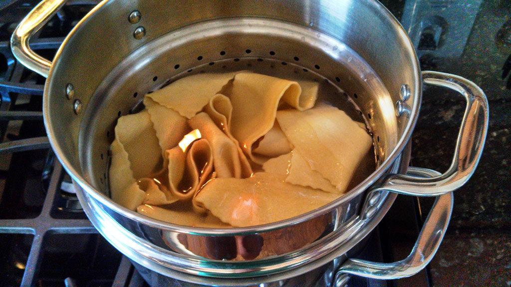 pasta inside pasta pot