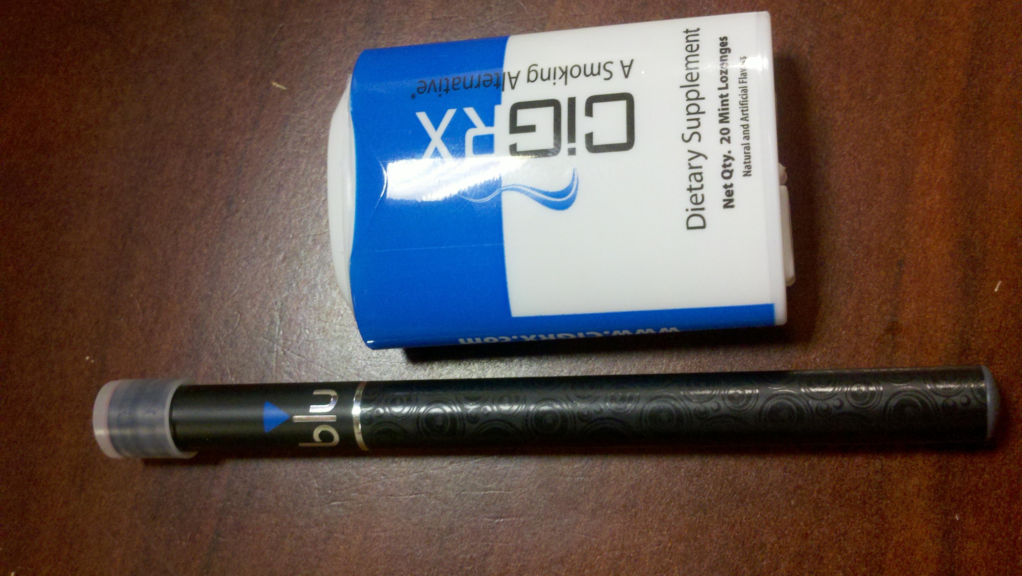 e-cigarette and lozenges