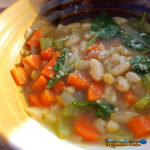tuscan white bean soup in bowl