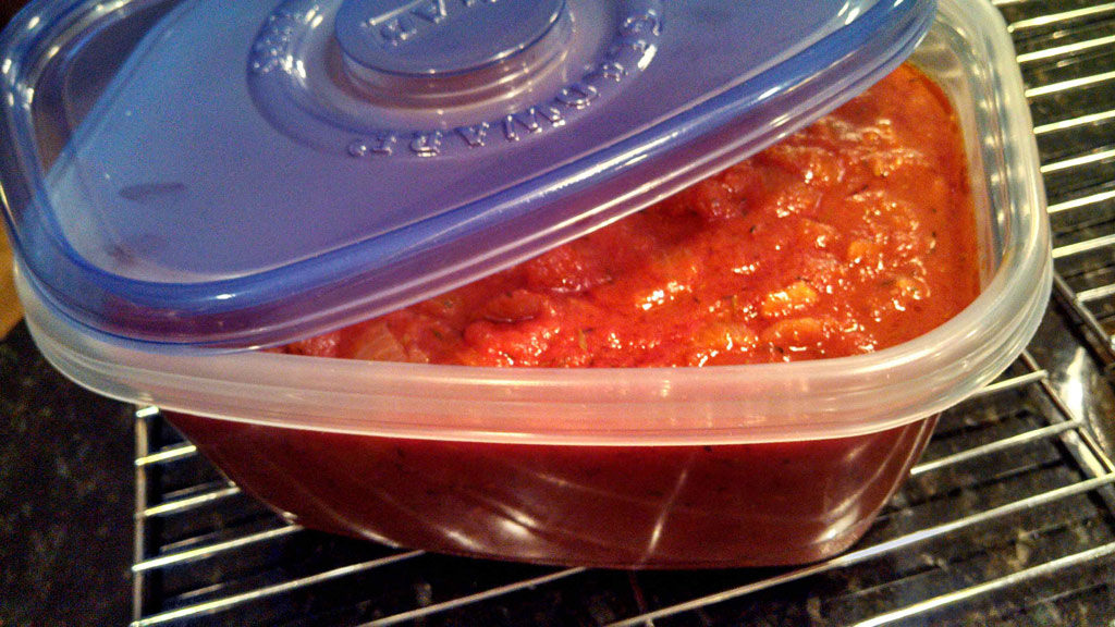 Basic tomato sauce is simply seasoned with onion, garlic and thyme, sweetened slightly with carrot; simmered until thickened. For all your Italian dishes!   TheMountainKitchen.com