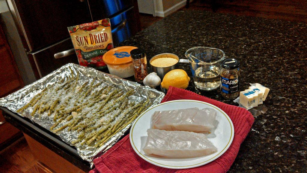 ingredients to make fish dinner