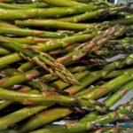 asparagus on baking sheet