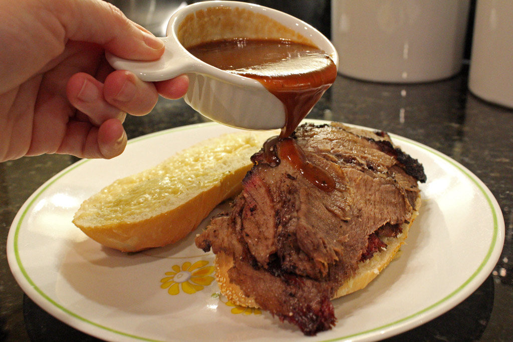 Try adding shredded Gruyère cheese to toasted beef brisket sandwiches for more flavor. The intense nutty flavor and creaminess of the cheese is amazing! | TheMountainKitchen.com