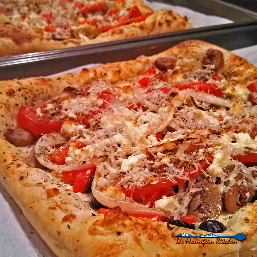 Puff pastry veggie pizza