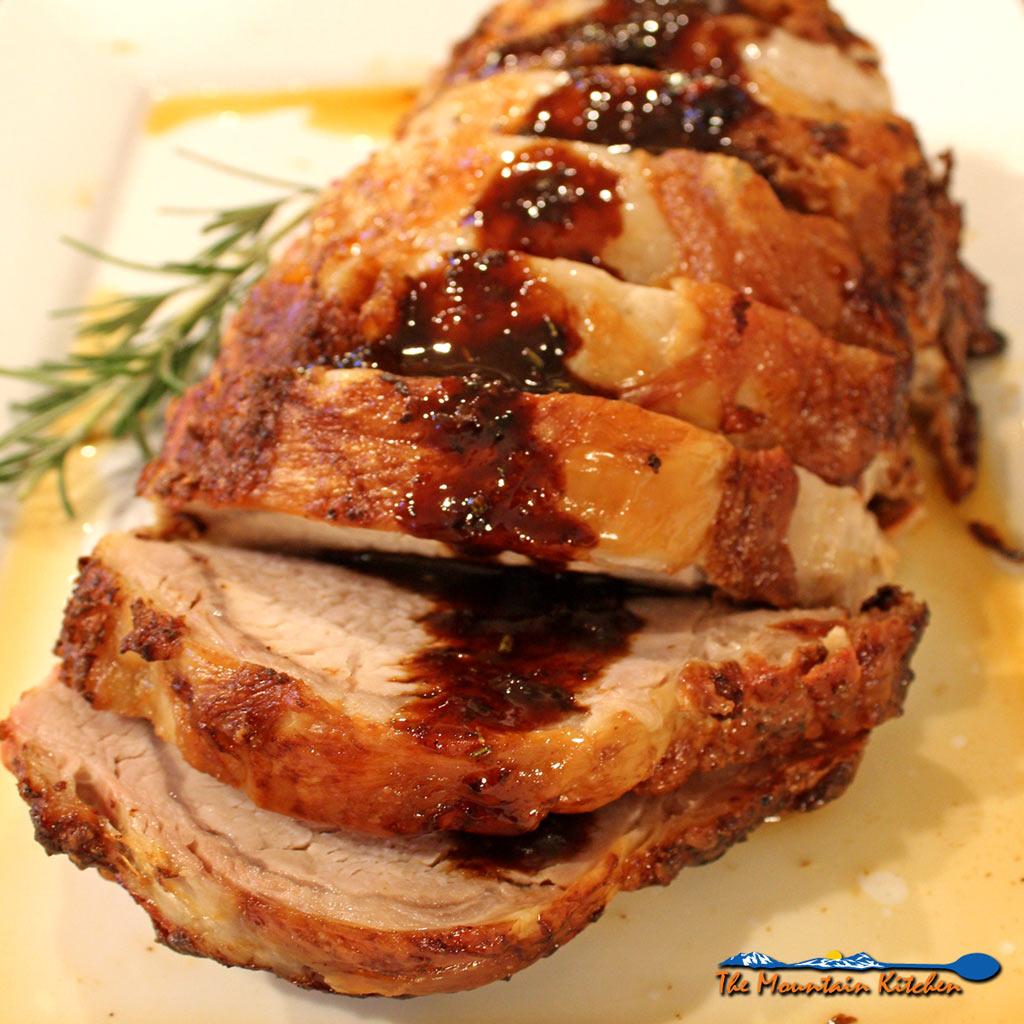 Mustard-Maple Pork Ribeye Roast