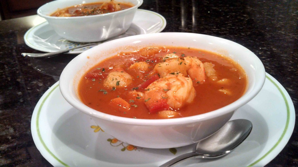 seafood soup ready to eat