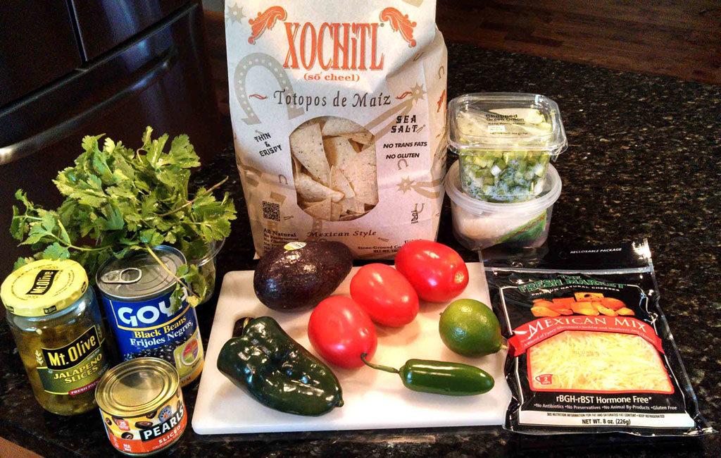 ingredients for nachos