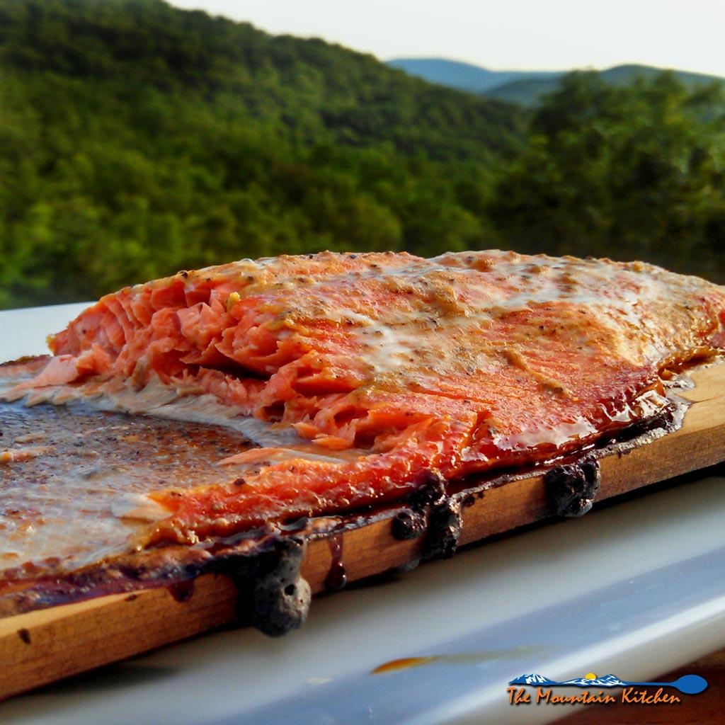 smoked salmon on cedar plank