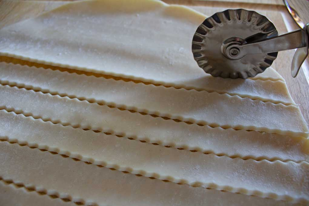 pastry wheel cutting pie crust