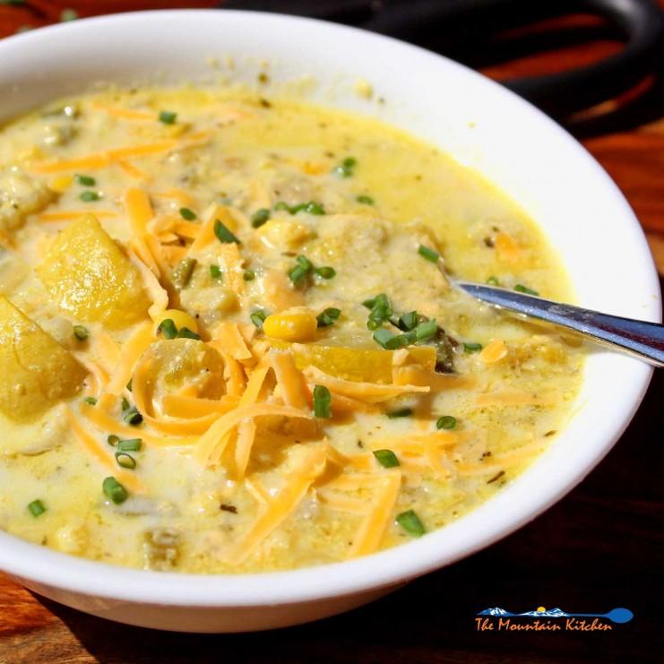 summer chowder in bowl