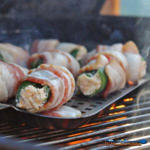 Grilled Bacon Wrapped Jalapeño Poppers {The Improved Recipe