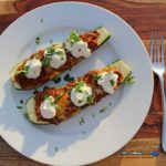 Meatless Mexican Zucchini Boats