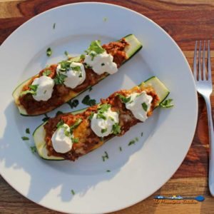 Meatless Mexican Zucchini Boats {A Meatless Monday Recipe