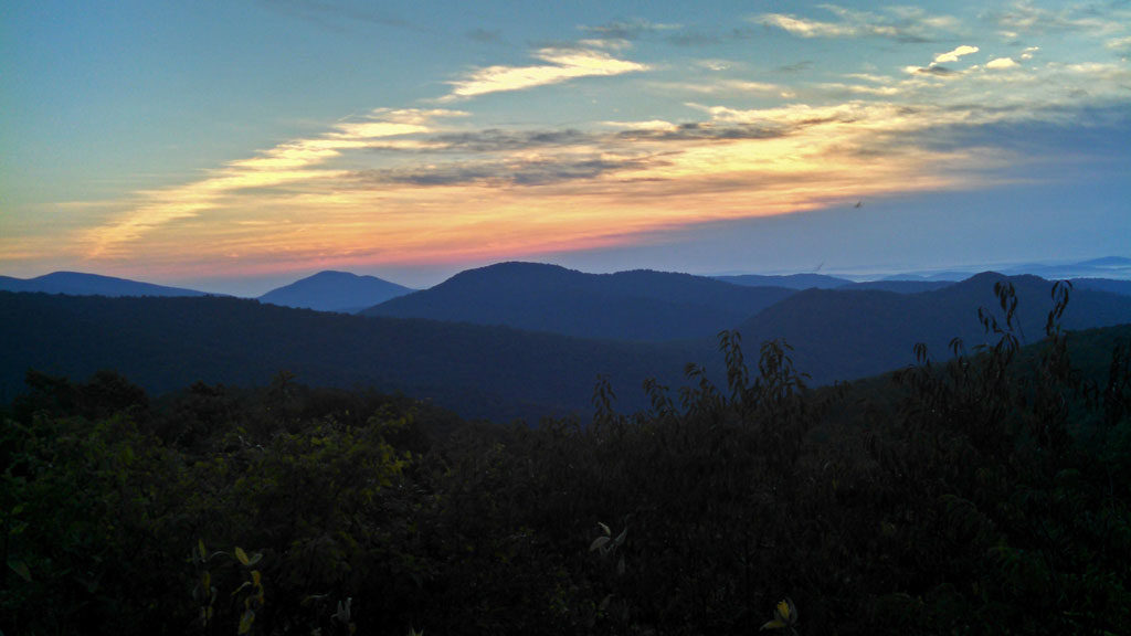 Watching the sunrise come up on Skyline Drive, while people were sleeping. There something so special about watching the sunrise from on top of the world. | TheMountainKitchen.com