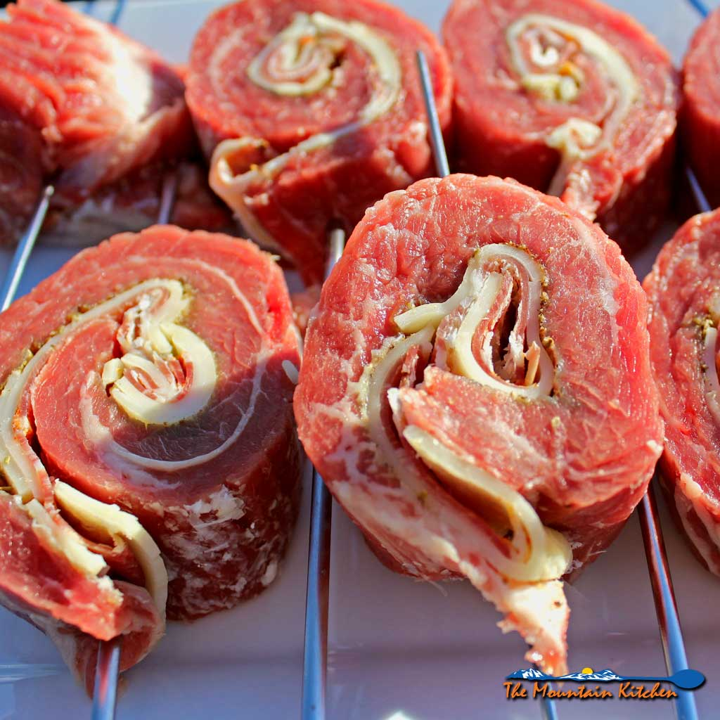 Grilled Stuffed Flank Steak With Spicy Capicola and Provolone