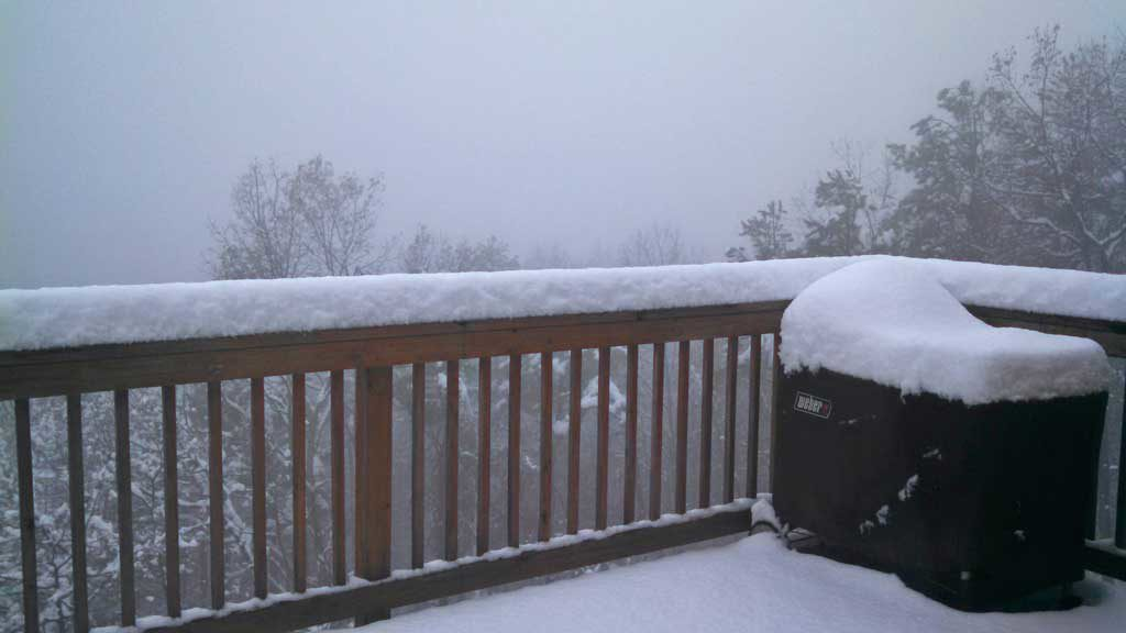 'Twas the day before Thanksgiving…a snow storm was on the way to the mountains.