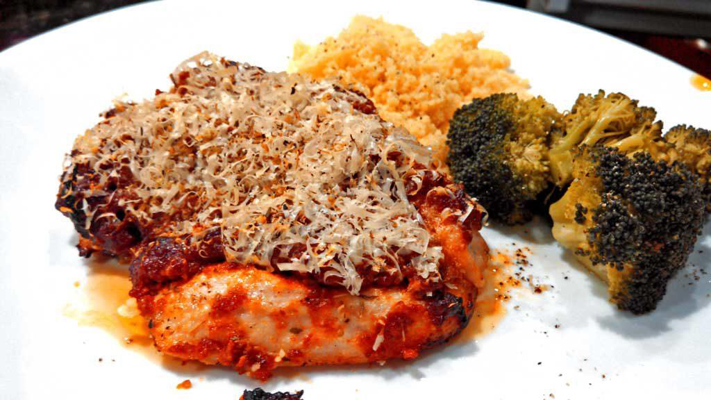 Sun-Dried Tomato Pesto Chicken on plate