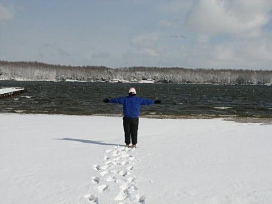 Me at the snowy lake