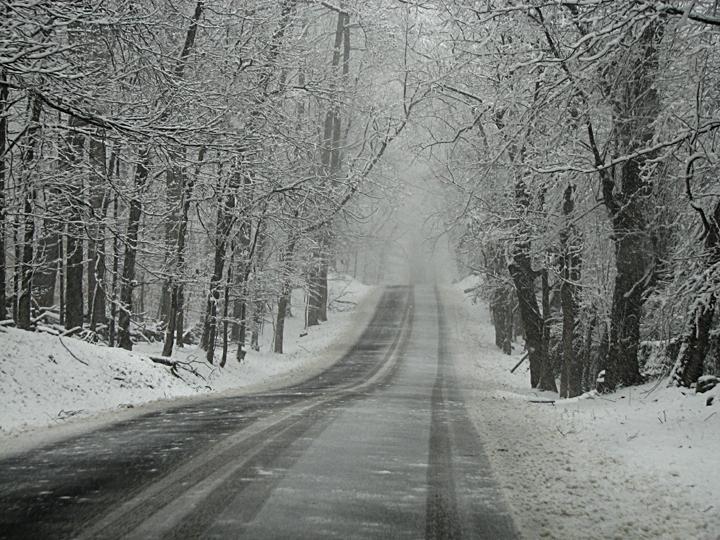 Snowy road 1
