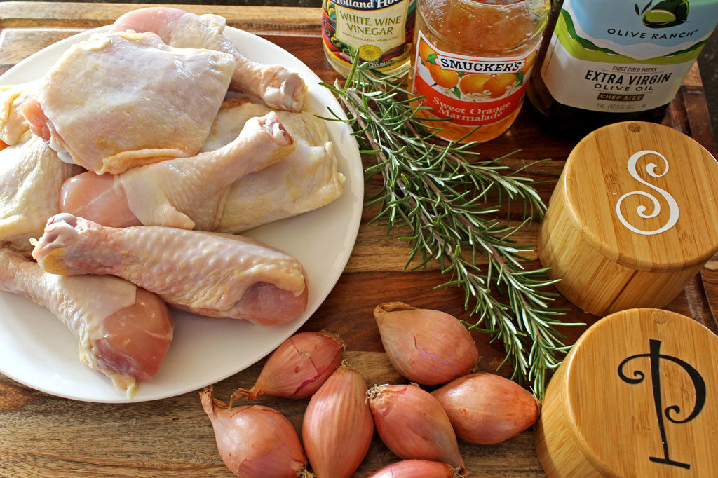 ingredients to make chicken a lorange