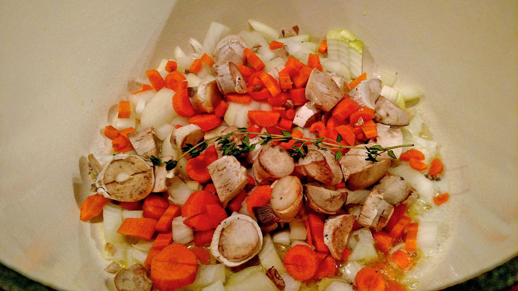 vegetables in pot