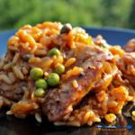 Perfect for a weeknight meal, this chicken chorizo and rice comes together in less than an hour. Chorizo and fresh lemon juice set this dish off! | TheMountainKitchen.com
