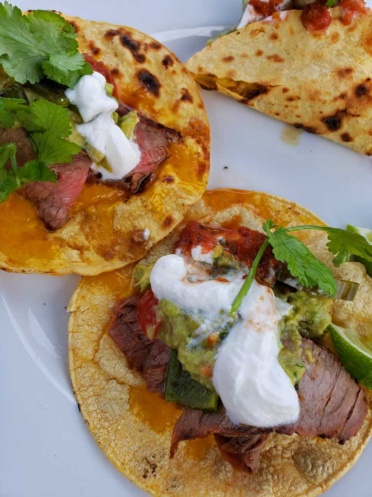 Carne asada can be served as a quick and easy weeknight meal from the grill as a main dish or as an ingredient in tacos, fajitas and burritos
