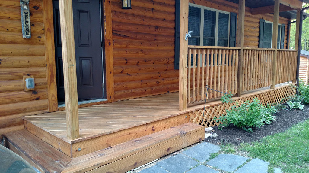 our front porch after