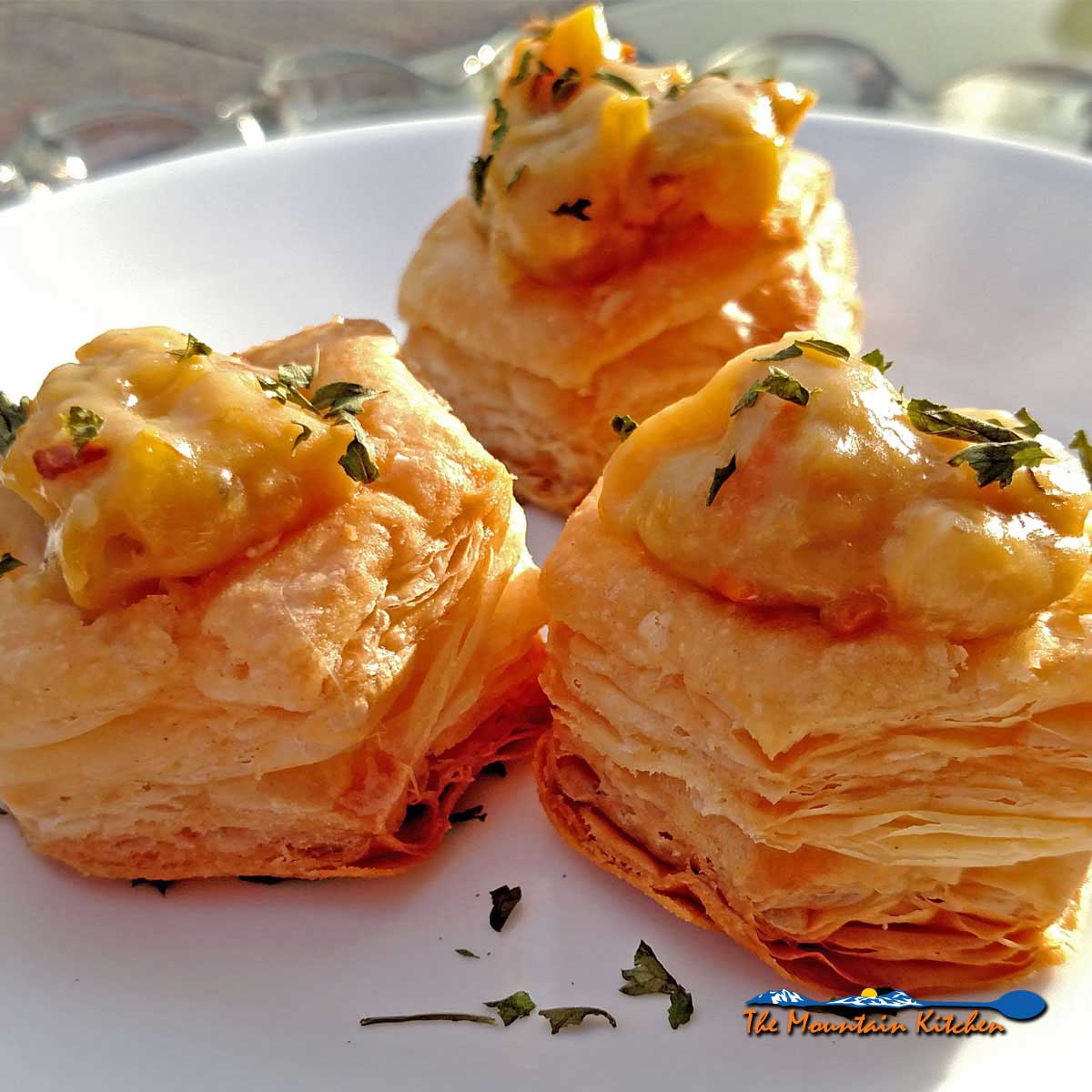 Squash Goat Cheese Tartlets {A Meatless Monday Recipe