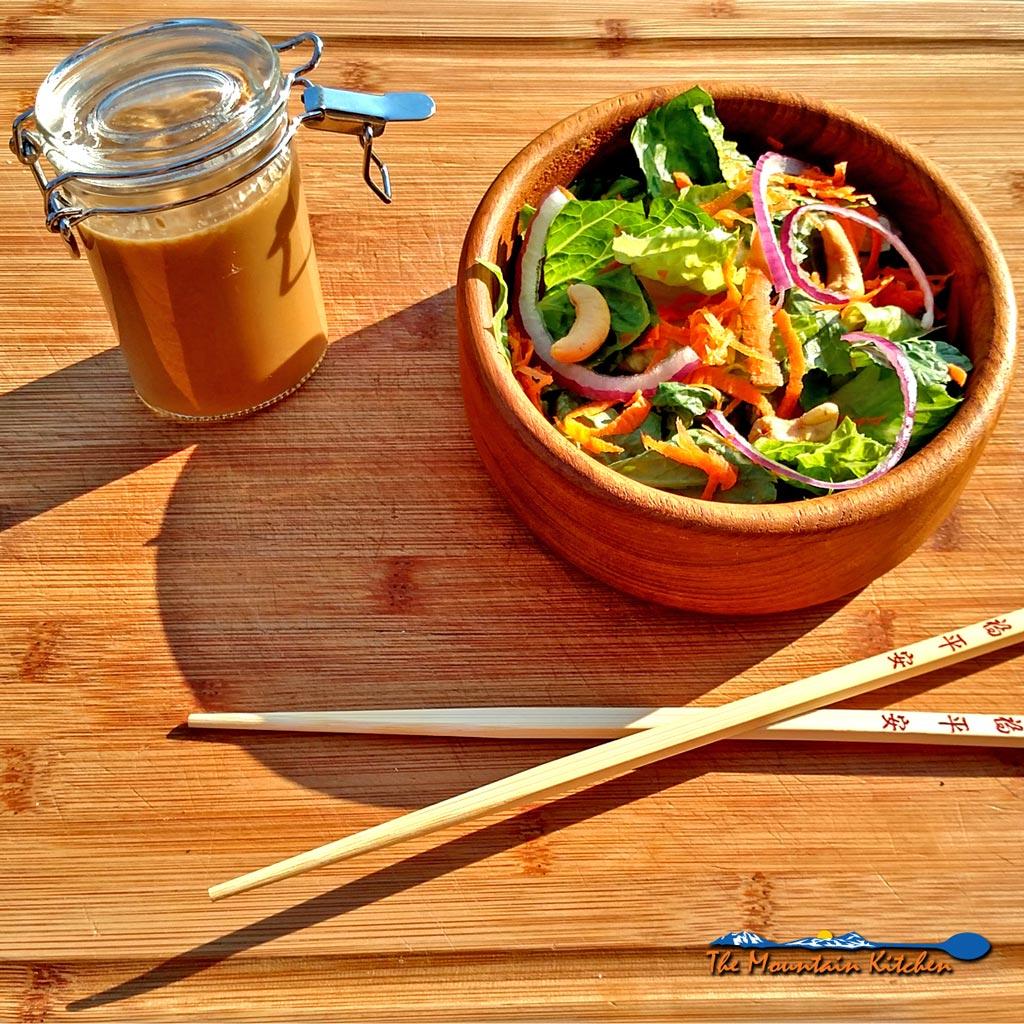 Asian Salad with Sesame Dressing {A Meatless Monday Recipe
