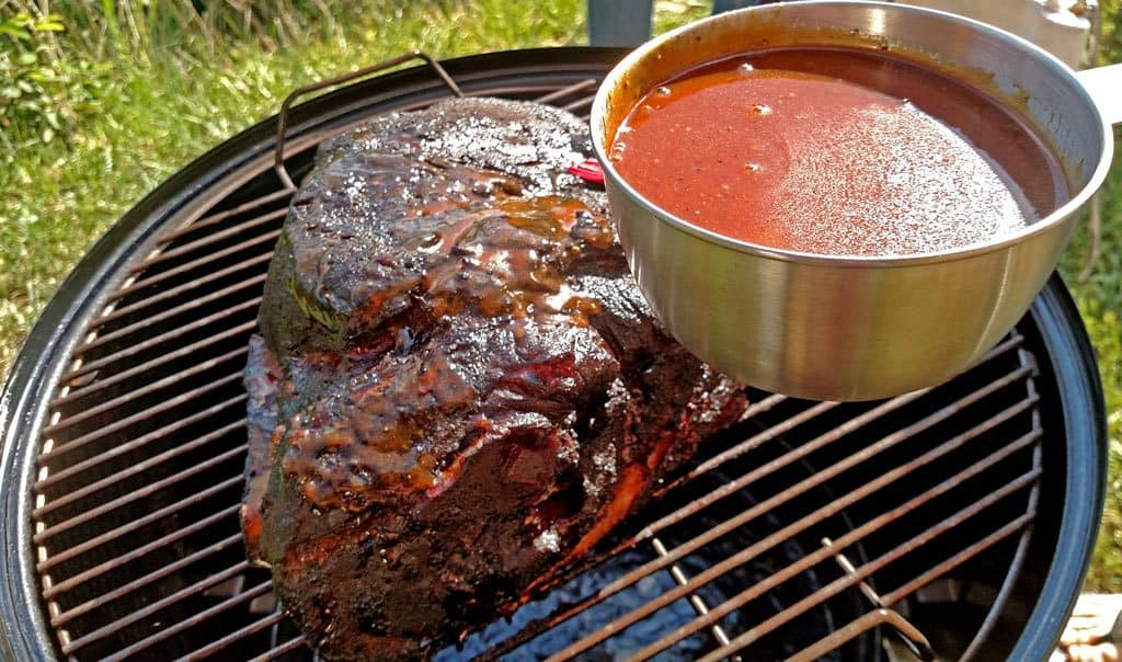 David's 10 steps to succulent smoked BBQ pork picnic shoulder. By following these steps, you will have perfectly cooked meat that's tender, moist and juicy. | TheMountainKitchen.com