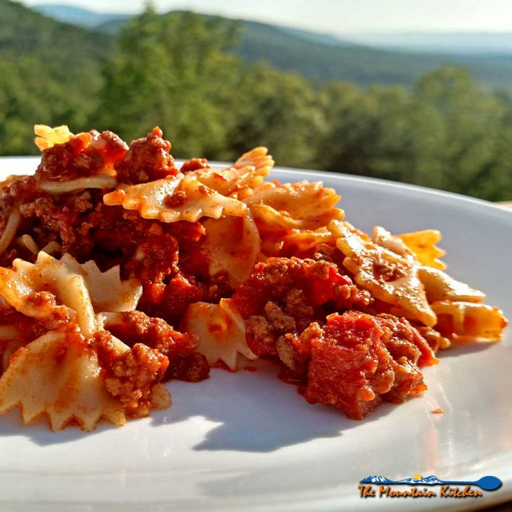 Sometimes we all need a break from the usual rotation. If you love spice it is easy to change-up your normal pasta. Spice up your pasta! | TheMountainKitchen.com