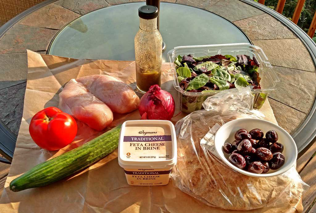 ingredients to make easy chicken gyros