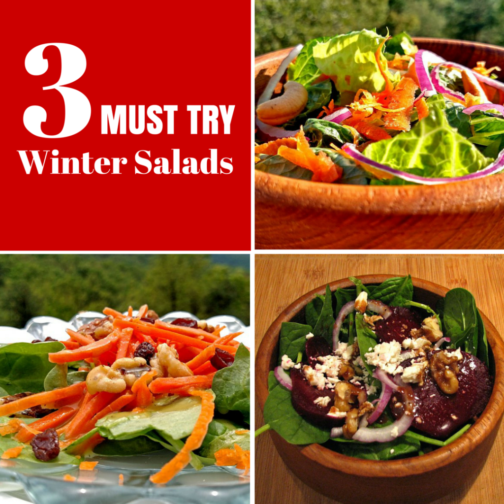 Start the new year out on the right foot. We invite you to participate in Meatless Monday. Try one of these winter salads! | TheMountainKitchen.com